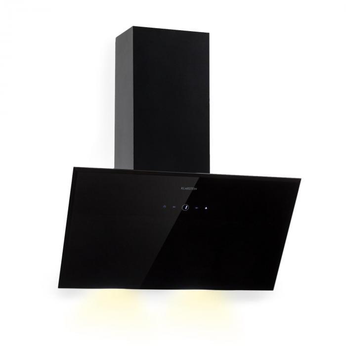 Laurel 60 Dunstabzugshaube 60cm Abluft: 350 m³/h LED Touch Glas schwarz