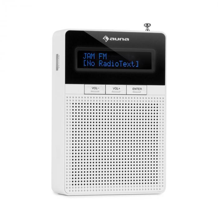 DigiPlug FM Steckdosen-Radio, UKW/PLL, BT, LCD-Display, weiß