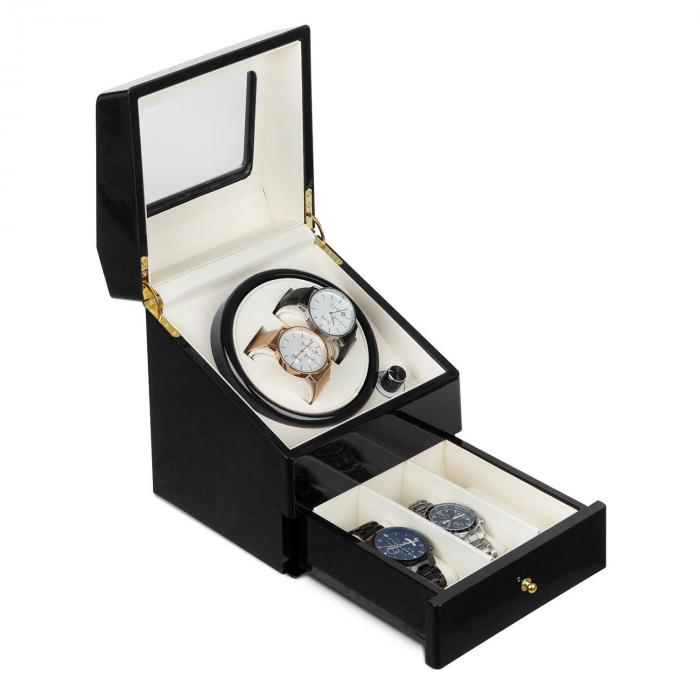 Klarstein Geneva Rotomat 2 zegarki 4 tryby szufladka kolor czarny