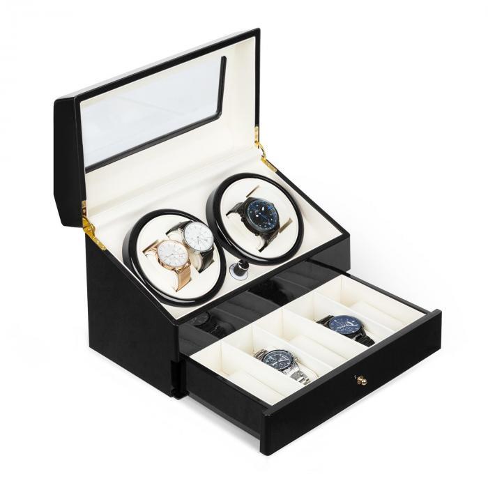 Klarstein Geneva Rotomat 4 zegarki 4 tryby szufladka kolor czarny