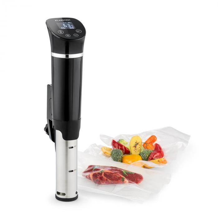 Klarstein Quickstick Flex Urządzenie do gotowania próżniowego 1300 W cyrkulacja 3D 0–95°C IPX7 timer kolor czarny