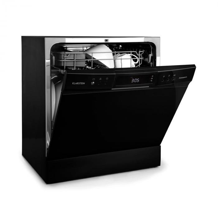 Amazonia 8 Neo Tableware Dishwasher 8 Programmes LED Display Black