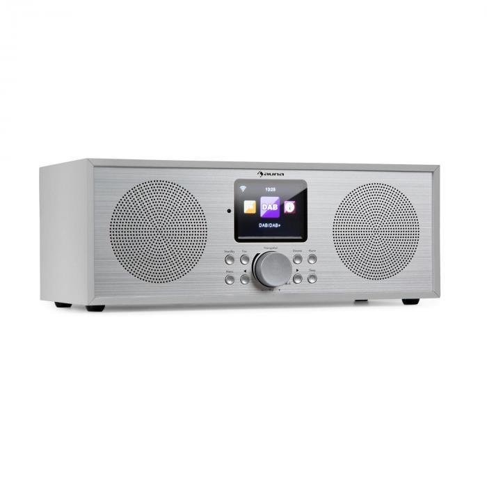 Auna Silver Star Stereo Radio internetowe DAB+/UKF, Wi-Fi, BT, DAB+/UKF, kolor biały