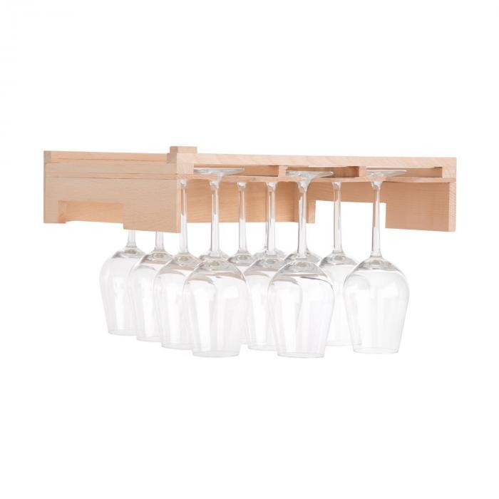 Klarstein Barossa 77D półka na kieliszki do wina wyposażenie 3 prowadnice drewno naturalne