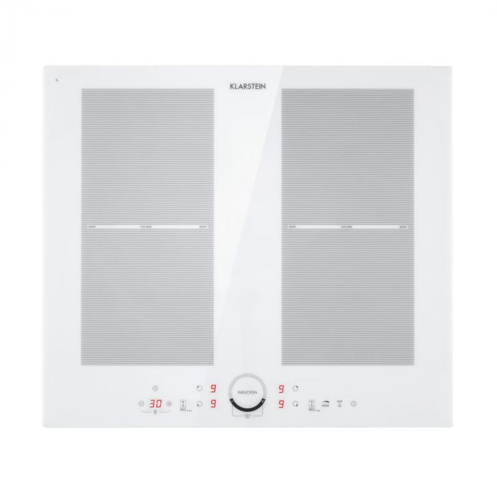 Delicatessa 60 Induction Hob 4 Zones 7000W Timer White