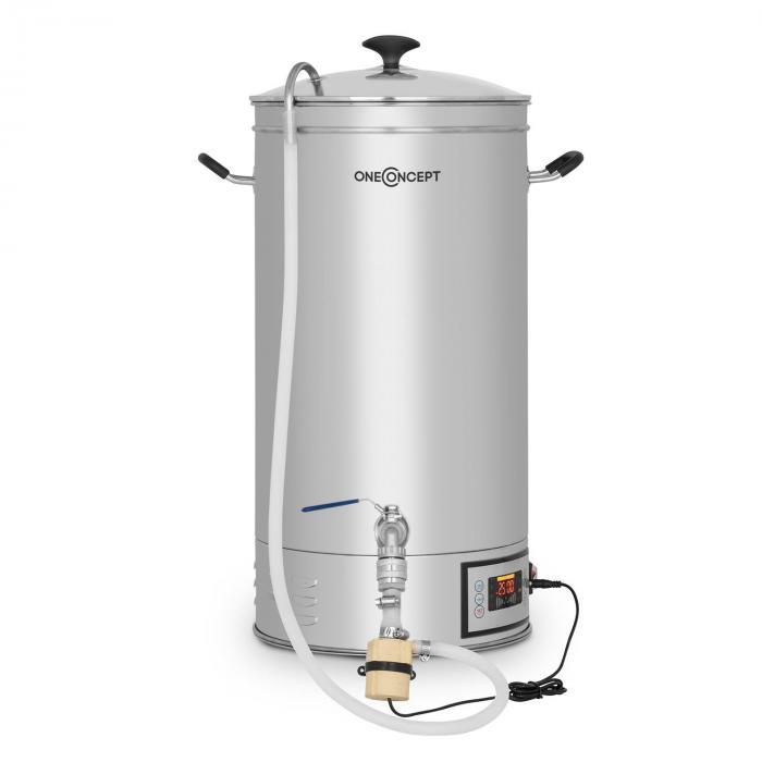Hopfengott Cuba de macerado 30 litros 30-140°C  Bomba de circulación Acero inoxidable