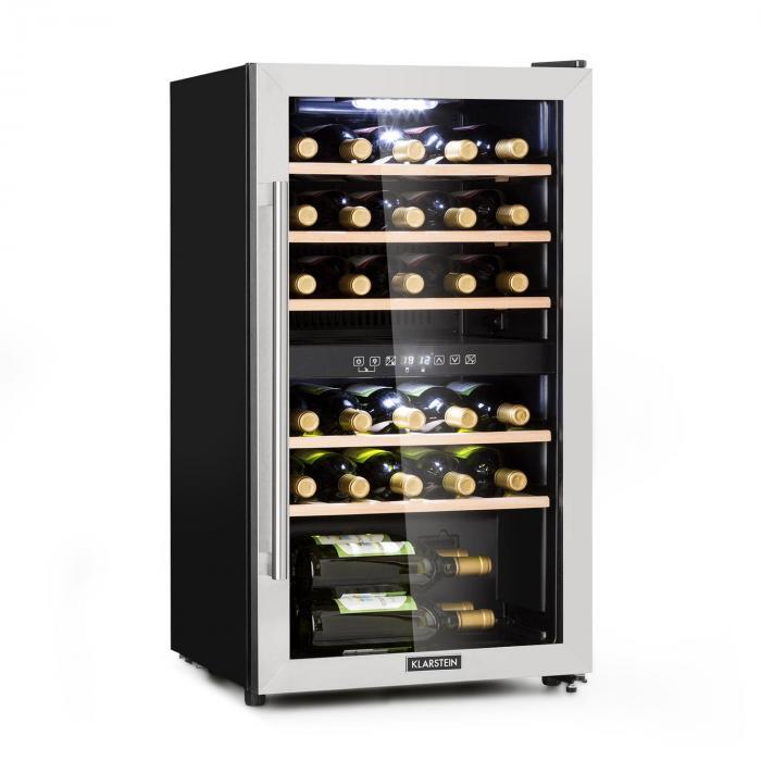 Vinamour 29D Frigorifero per Vini 2 Zone 80L/29 Bottiglie 5-22°C Touch