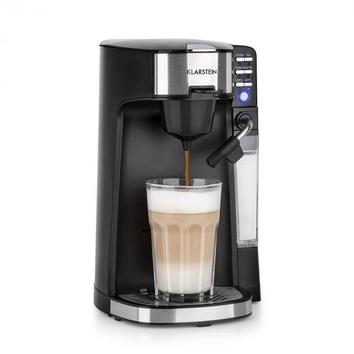 Klarstein Baristomat Ekspres automatyczny do kawy i herbaty 2 w 1 spieniacz mleka 6 programów