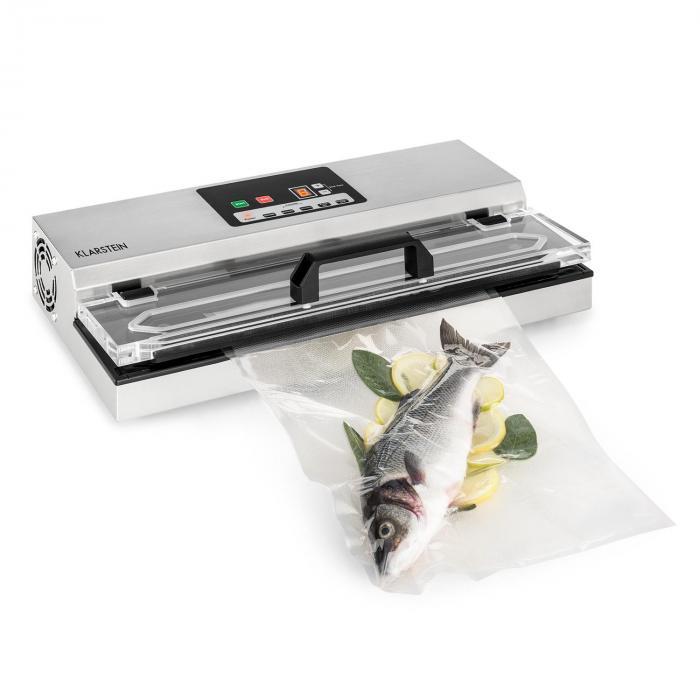 Klarstein FoodLocker 650 Pakowarka próżniowa 650W InstantSealing stal szlachetna kolor srebrny