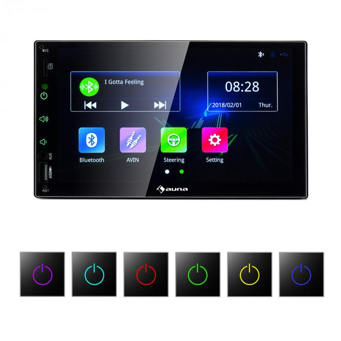 "MVD-400 CP Autoradio 7"" Touchscreen 4x45W BT Android Auto USB 2 DIN nera"