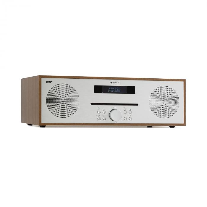 Silver Star CD-DAB 2 x 20 W max. Slot-In CD-soitin DAB+ bluetooth alumiini ruskea