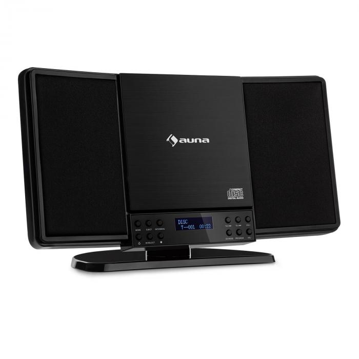 Auna V14-DAB, Pionowy system stereo, V14-DAB, CD, FM i DAB + Tuner, BT, Czarny