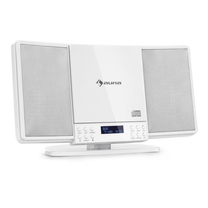 Auna V14-DAB, Pionowy system stereo, V14-DAB, CD, FM i DAB + Tuner, BT, Biały