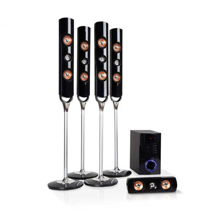 Auna Areal Nobility 5.1-kanałowy system audio surround 120 W RMS Bluetooth 3.0 USB SD AUX