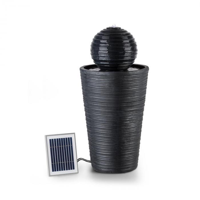 Liquitorre Fontana Solare 200l/h Pannello 2W Batteria LED Poliresina