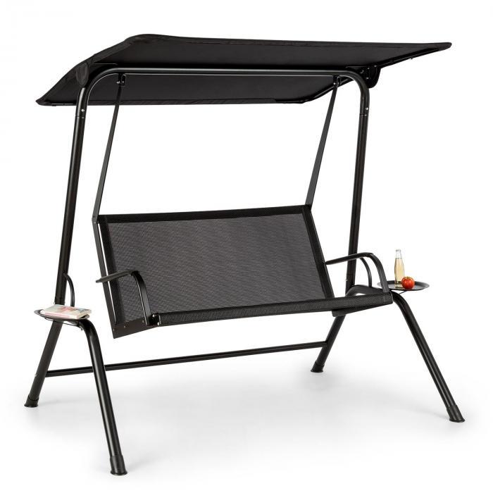 Blumfeldt Bel Air Mono Swing, Huśtawka typu Hollywood, rama stalowa, Mono Relax, czarny