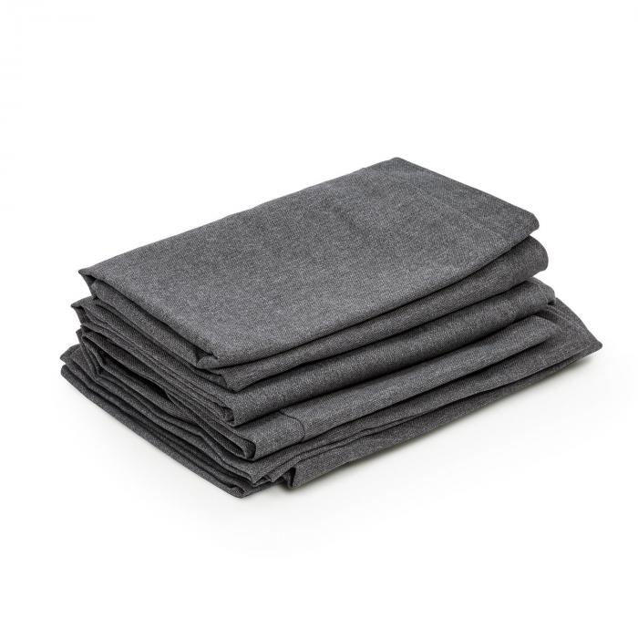 Titania Dining Set Upholstery Covers 10-pc 100% Polyester Dark Grey