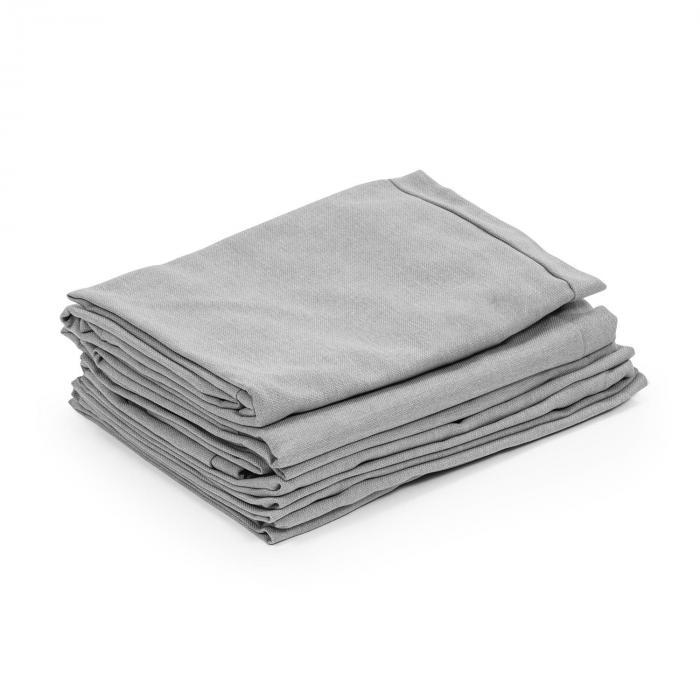 Titania Dining Set rivestimenti 10 pezzi 100% poliestere grigio chiaro