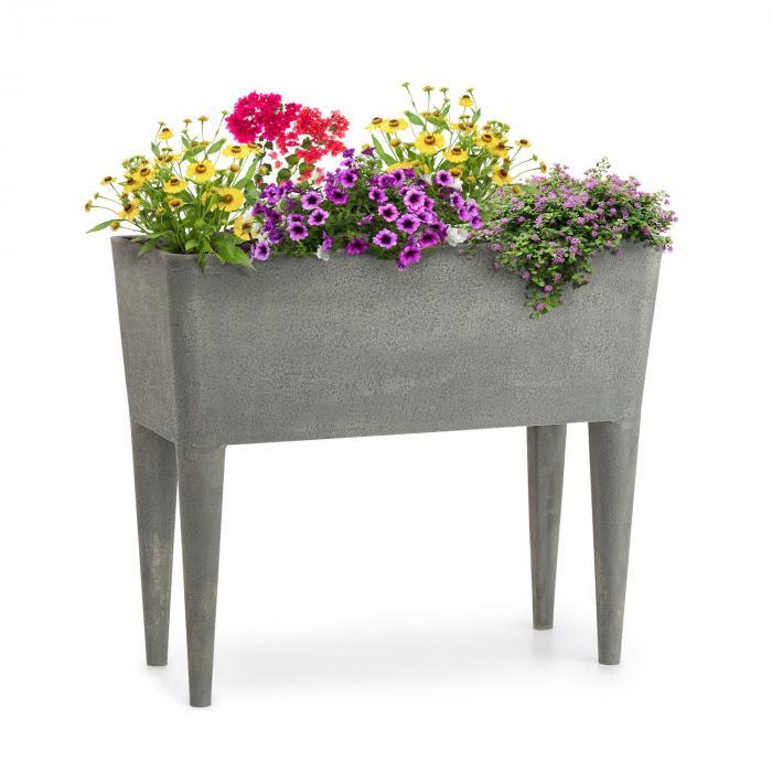 Blumfeldt Mammutgrow Hochbeet 76 x 65 x 37 cm leicht UV- und Frostschutz grau