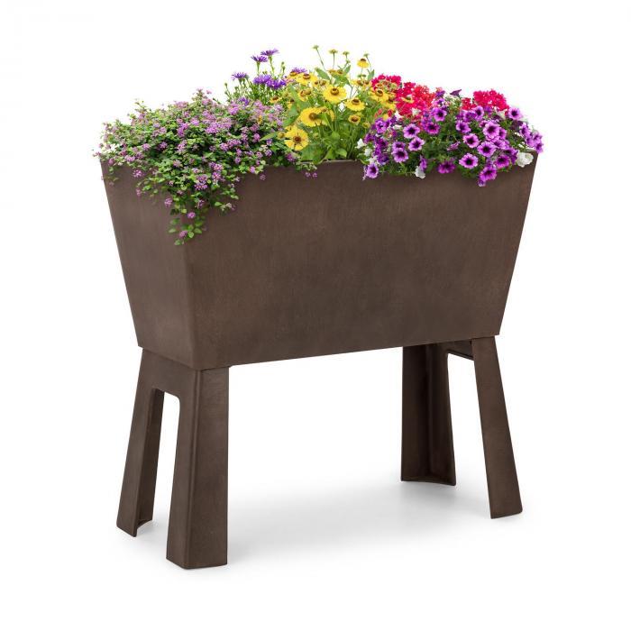 Blumfeldt Mammutgrow Flex Hochbeet 75 x 70 x 35 cm UV- und Frostschutz braun
