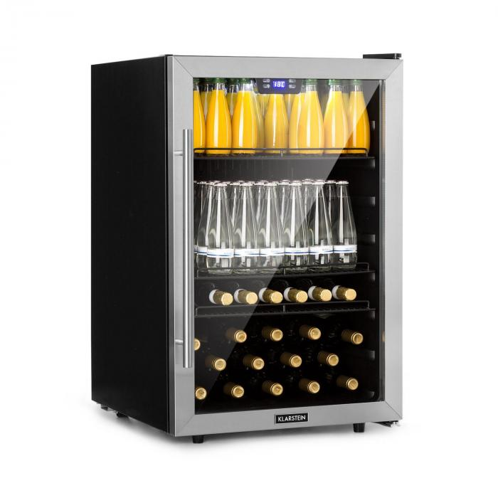 Beersafe XXL frigorifero per bevande 148L A+ vetro acciaio inox