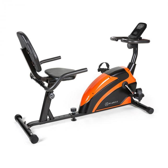 KLARFIT Relaxbike 6.0 ergometr poziomy 12 kg masa zamachowa opór magnetyczny 100kg
