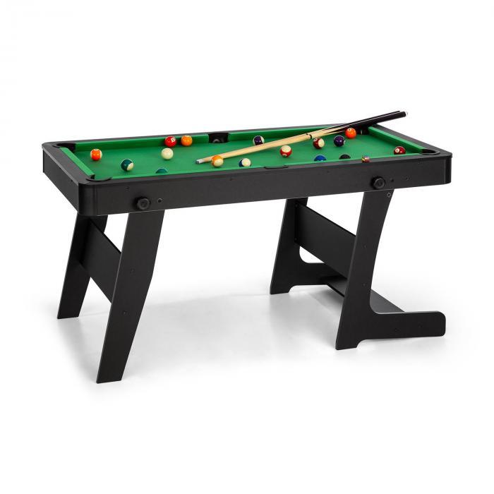 Trickshot speeltafel biljart 140x64,5 cm 16 ballen 2 keuen MDF zwart