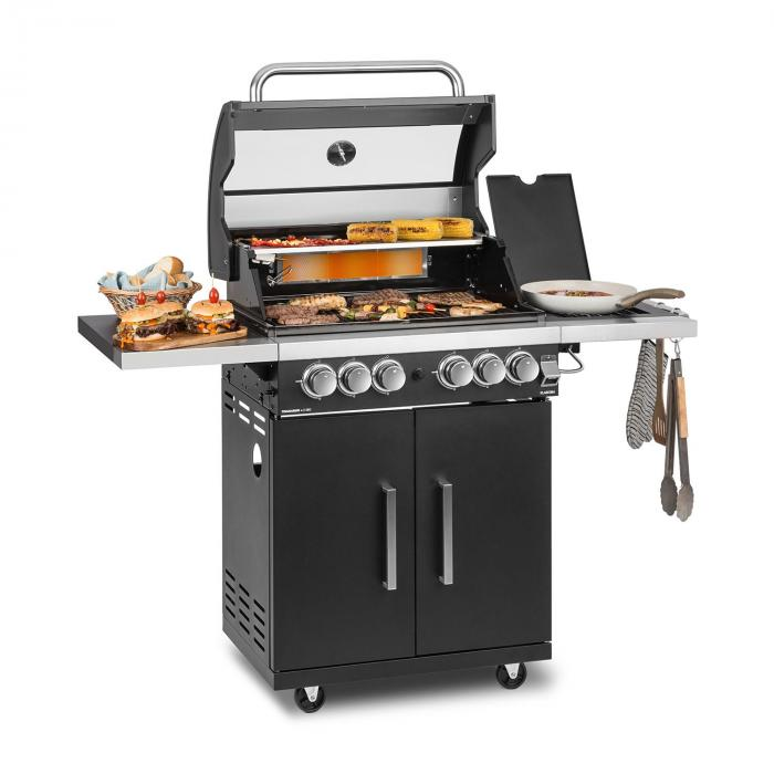 Tomahawk 4.2 T Gas Grill 6 Burners 20.7 kW  64x42cm Grill Stainless Steel