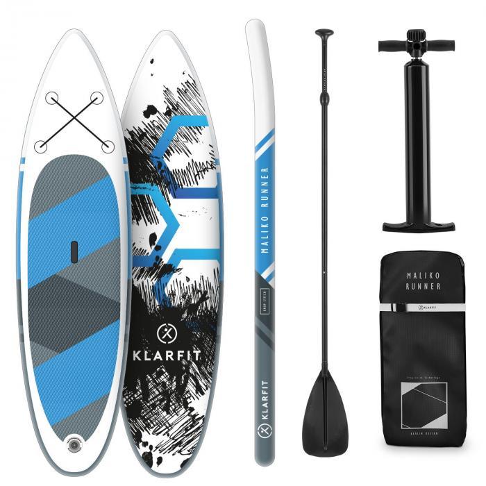 Maliko Runner aufblasbares Paddelboard SUP-Board-Set 305x10x77 blau