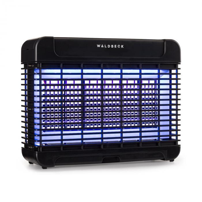 Waldbeck Mosquito Ex 5500 pułapka / urządzenie do rażenia owadów 11W 150m² LED tacka łańcuch czarna
