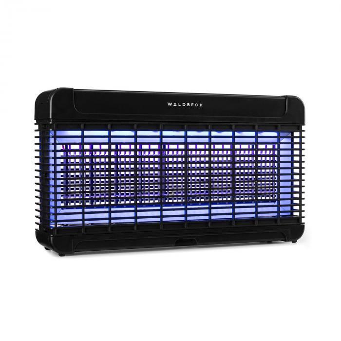 Waldbeck Mosquito Ex 9500 pułapka / urządzenie do rażenia owadów 13W 300m² LED tacka łańcuch, czarny