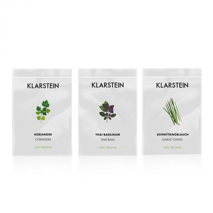 GrowIt Seeds Asia | Tre semi: Coriandolo Thai Basilico Erba Cipollina