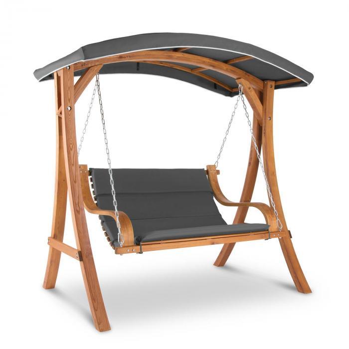 Tahiti hammock soltak 110cm 2-sitsig massivträ grå