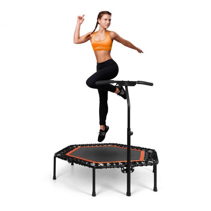 "Jumpanatic Pro Fitness Trampoline 50""/ 127 cm Ø Handle Bar Orange"
