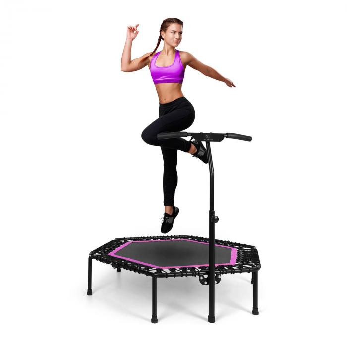 "Jumpanatic Pro trampolino fitness 50"" / 127 cm Ø impugnatura fucsia"
