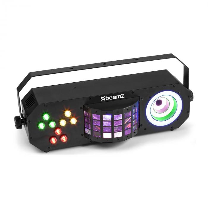 Beamz LightBox 3, imprezowy efekt, par/derby/visual ring efekt, RGBAW-UV, czarny