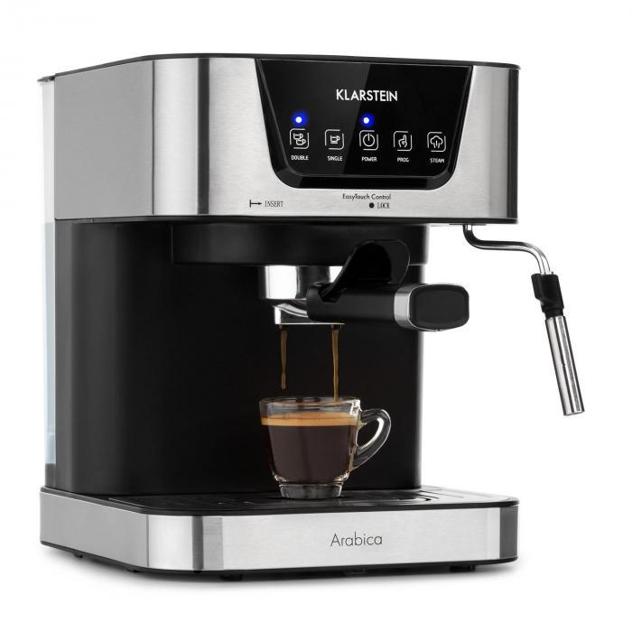 Klarstein Arabica, maszyna do espresso, 15 barów, 1,5 l, dotykowy panel obsługi, 1050 W, stal szlachetna