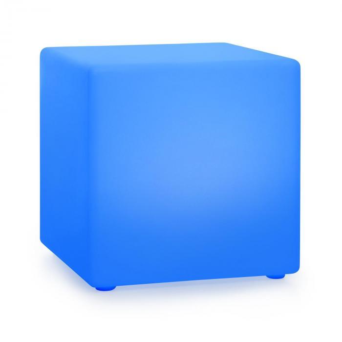 Blumfeldt Shinecube XL, świecąca kostka, 40 x 40 x 40 cm, 16 kolorów LED, 4 tryby świecenia, biała