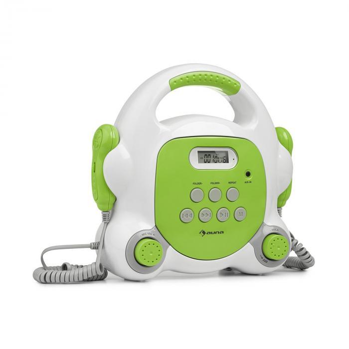 Pocket Rocker BT Karaoke Player BT USB-Port MP3 2 x Mic Green