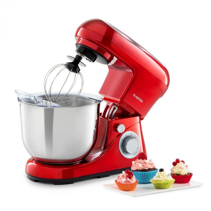 Klarstein Bella Pico 2G, robot kuchenny, 1200 W, 1,6 HP, 6 stopni, 5 litrów, czerwony