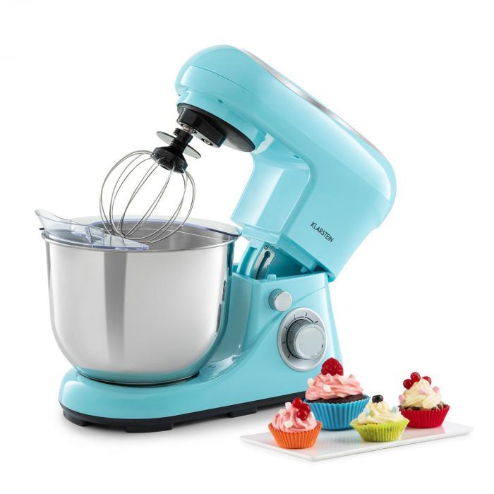 Klarstein Bella Pico 2G, robot kuchenny, 1200 W, 1,6 HP, 6 stopni, 5 litrów, niebieski