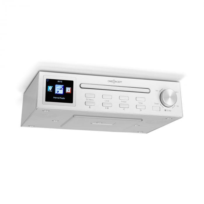 """Streamo Chef radio da cucina lettore CD BT display HCC da 2,4"""" bianco"""