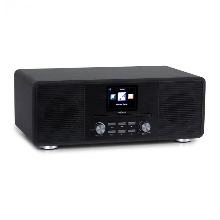 Streamo CD Internet Radio 2x10W WLAN DAB + FM CD Player BT Black