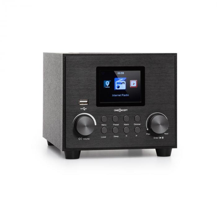 Streamo Cube Internetradio 3W & 5W RMS WLAN BT schwarz