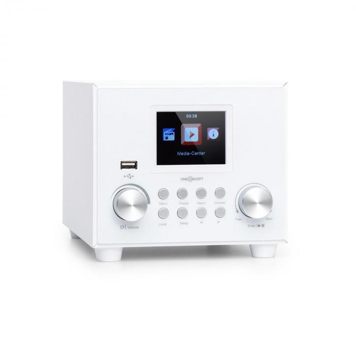 Streamo Cube Internetradio 3W & 5W RMS WLAN BT weiß