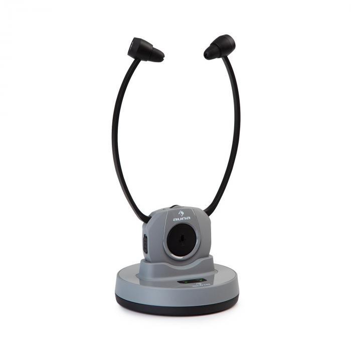 Stereoskop Cuffie Sottomento InEar 20m 2,4GHz TV/HiFi/CD/MP3 Batteria grigio