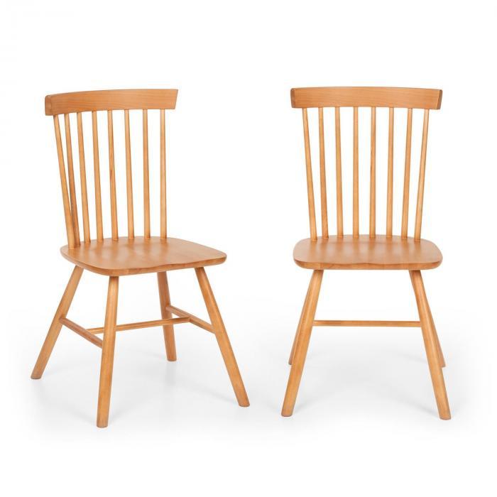 Besoa Fynn, para krzeseł drewnianych, drewno bukowe, stylistyka Windsor, drewno