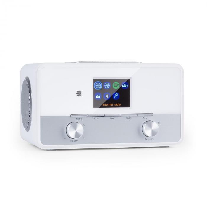 """Auna Connect 150 SE, 2.1 radio internetowe, DAB/DAB+/PLL-FM, BT, 2,8"""" TFT wyświetlacz, białe"""
