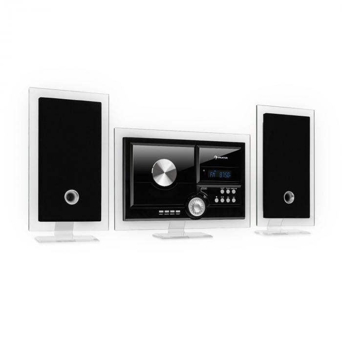 Stereo Sonic DAB+ Stereoanlage, DAB+, CD-Player, USB, BT, schwarz