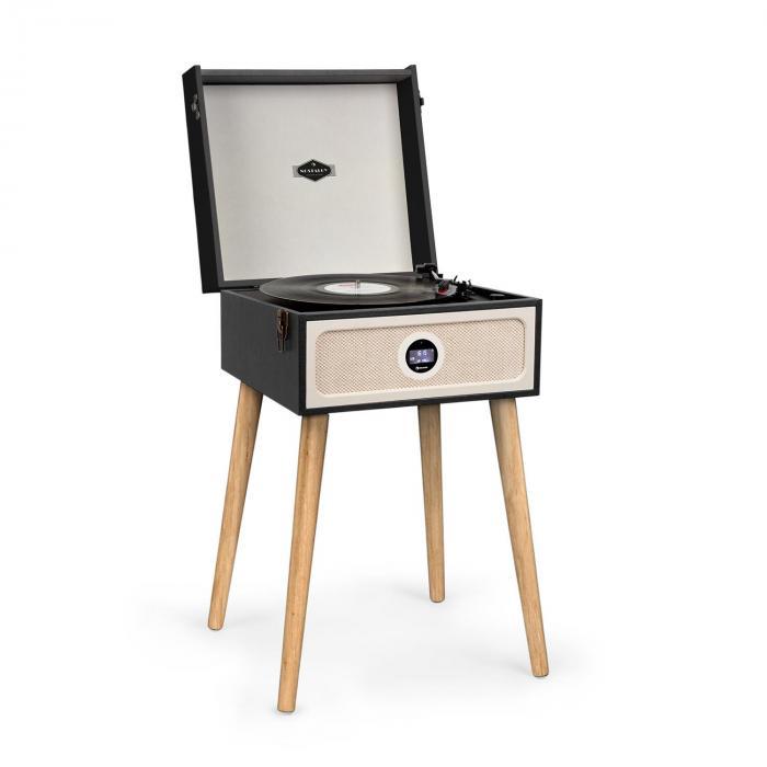 Auna Sarah Ann DAB, gramofon, 33/45/78 obr./min, radio DAB+/UKF, Bluetooth, czarny